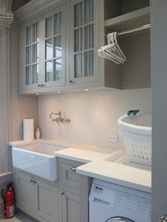 laundry room, gray cabinets