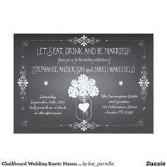 黒板|結婚|素朴|石大工|瓶|招待状 12.7 X 17.8 インビテーションカード