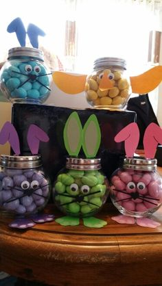 Mason jar easter gift ideas easter bunny easter and bunny gifts for my co workers negle Choice Image