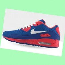 buy popular 107fb c9972 KIPD432 Herre Nike Air Max 90 running Sko Hvid Pink Blå  mPWCG