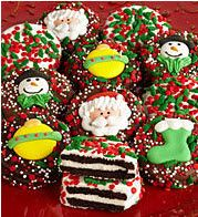 These look delicious! Holiday Oreos covered in Belgian chocolate. Yummy!