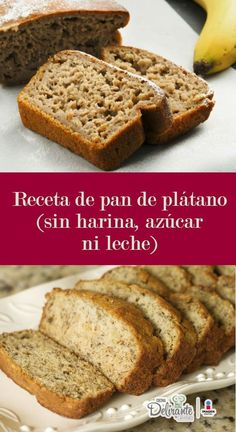 Fantastic banana bread recipe (without flour, sugar or milk) - Fantastic banana bread recipe (without flour, sugar or milk) - Pan Dulce, Sweet Recipes, Real Food Recipes, Dessert Recipes, Cooking Recipes, Yummy Food, Food Cakes, Gluten Free Desserts, Healthy Desserts