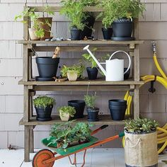 Stackable Wood Plant Stand