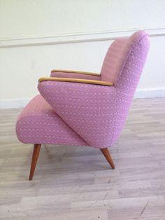 Original Stylish Mid Century Chair 50s 60s Antique Vintage Sofa Danish Liberty in Home, Furniture & DIY, Furniture, Sofas, Armchairs & Suites   eBay