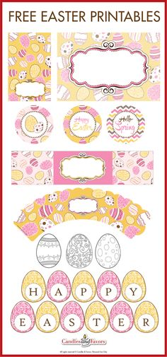 Free Printables for Easter to decorate your Easter kids parties!   CatchMyParty.com