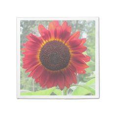 Rusty Red Sunflower Napkin