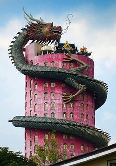 Wat Samphran, Thailand...  Really scary, huh?