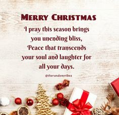 Merry Christmas: I pray this season brings you unending bliss, peace that transcends your soul and laughter for all your days. #Christmasquotes #Merrychristmasquotes #Shortchristmasquotes #2020Christmasquotes #Merrychristmas2020quotes #Christmasgreetings #Inspirationalchristmasquotes #Cutechristmasquotes #Christmasquotesforfriends #Warmchristmaswish #Bestchristmasquotes #Christmasbiblequotes #Christmaswishesforfamily #Christmascaptions #Festivechristmasquote #Merrychristmasimages #therandomvibez Christmas Wishes For Family, Short Christmas Quotes, Christmas Quotes For Friends, Christmas Bible, Merry Christmas Images, Christmas Greeting Cards, Christmas Greetings, Christmas Captions, Prayer Scriptures