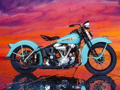 Fondos de Pantalla 1938 Blue Harley Davidson