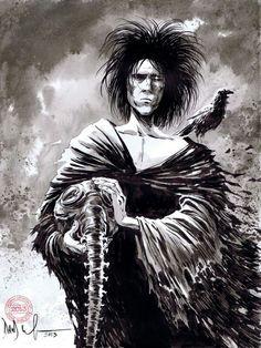 Morpheus from Neil Gaiman's Sandman. Art by Dave Wachter.