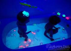 Glow in the Dark bath...totally need to do this sometime!