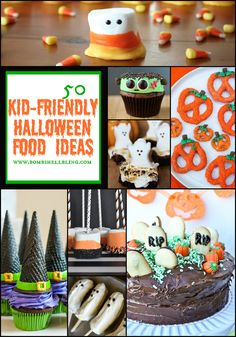 These 50 kid-friendly Halloween food ideas are perfect to inspire you for your Halloween parties.