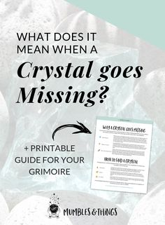 So you've lost a crystal and now you're wondering if there is a deeper meaning behind this occurrence. While a lost crystal is sometimes, simply a lost crystal, there are other reasons that a stone disappears. Find out more and download the FREE guide. Click through. #ontheblognow #crystallovers #crystalhead #crystallover #crystalpower #crystalstones #crystalmeanings