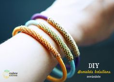 wrap bracelets, not in english but very easy to follow picture tutorial