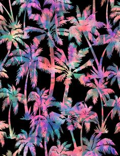 Maui Palm Print by Schatzi Brown | Society6 <tropical>