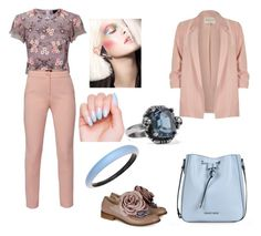 """""""My way"""" by nicoleta-girovanu on Polyvore featuring Needle & Thread, WtR, Pokemaoke, Armani Jeans, River Island, Alexis Bittar and Alexander McQueen"""