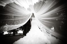 This is a great idea for a brides photo.