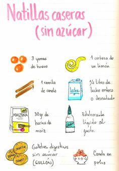 Gastro Andalusi ♥ Recetas ilustradas: Natillas caseras sin azúcar especiales para dietas y diabéticos