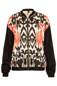 ETHNIC EMBROIDERED BOMBER - Topshop price: £65.00
