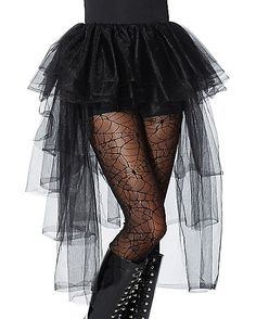 Black Hi-Lo Tulle Skirt - Spirithalloween.com