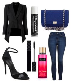 """""""Untitled #9872"""" by ohnadine on Polyvore featuring Alexander Wang, Topshop, Victoria's Secret, Gucci, Chanel, Alexander McQueen and Chapstick"""