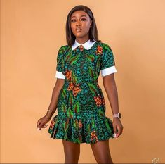 African Fashion Ankara, Latest African Fashion Dresses, African Print Fashion, Africa Fashion, African Prints, Short African Dresses, Modern African Print Dresses, Short Gowns, Chitenge Outfits