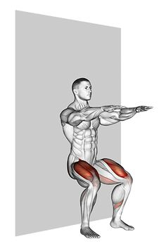 Back Workout Men, Leg Workout Plan, All Body Workout, Full Body Workout Routine, Gym Workout Tips, Wall Sit Exercise, Male Figure Drawing, Muscular Legs, Martial Arts Workout