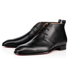 CHRISTIAN LOUBOUTIN MILAN CALF BROSSE  Black Calfskin - Men Shoes - Christian Louboutin. #christianlouboutin #shoes #