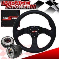 350mm Blue JDM Spoke Steering Wheel+Quick Release+Hub for 92-95 Civic EG//DelSol
