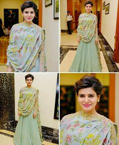 samantha ruth Samantha Photos, Samantha Ruth, Trendy Dresses, Stylish Outfits, Fashion Outfits, Women's Fashion, Indian Gowns, Indian Wear, Western Outfits