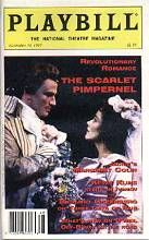 Playbill monthly magazine. The Scarlet Pimpernel on Broadway. Douglas Sills and Christine Andreas.