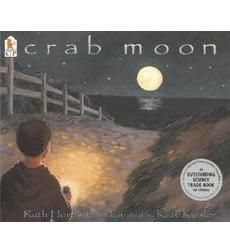 Crab Moon by Ruth Horowitz; Genre: Realistic Fiction Picture Book; Daniel's mom wakes him up in the middle of the night to see the horseshoe crabs spawning on the beach. When he goes back in the morning, he finds one lone crab remaining, stranded, and saves it. This book could be used to teach the writing traits of ideas, voice, word choice, sentence fluency, and presentation. It could be used to teach such writing traits as zooming in on a moment and descriptive language.