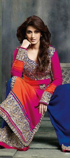 402306: #SonaliBendre wearing Broad Pants in Salwar Kameez. Shop it now! #Chic