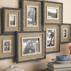 Love these! Maybe I can make some of these with burlap and my old frames.