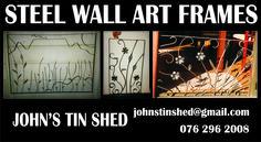 Custom Steel Wall Art Frame Examples Tin Shed, Art Frames, How To Remove Rust, Steel Wall, Framed Wall Art, Restoration