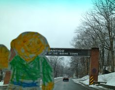 Flat Stanley took a drive down to the Marine base in Quantico, Virginia.