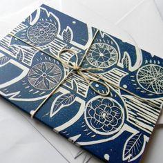 lino print cards
