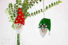 Murano glass Christmas gnomes tree ornaments set by EThandmadeshop