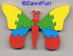 Butterfly #7 Puzzle Scroll Saw Pattern