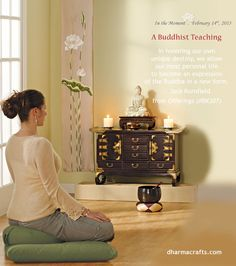 "Buddhist teaching from Jack Kornfield. From ""Offerings,"" item BK307. dharmacrafts.com. #dharmacrafts"