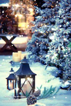 Winter Christmas Scenes, Christmas Scenery, Merry Christmas Images, Merry Christmas Greetings, Winter Wonderland Christmas, Christmas Mood, Merry Christmas And Happy New Year, Christmas Music, Christmas Wishes
