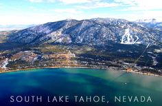 Breathtaking view of South Lake Tahoe, Nevada Lake Tahoe Nevada, South Lake Tahoe, Tahoe California, Oh The Places You'll Go, Places To Travel, Atlantic City, Natural Wonders, Beautiful Landscapes, Beautiful Places