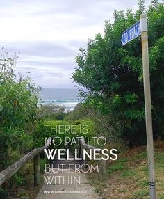 there is no path to wellness but from within