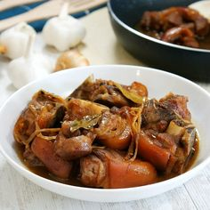 Pork Pata Humba - Quick and Easy Recipe | Amiable Foods Humba Recipe Pork, Pork Recipes, Pork Hock, Banana Blossom, Gluten Free Banana, Braised Pork, Steamed Rice, Saute Onions, Serving Dishes