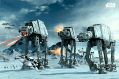 STAR WARS ~ AT-AT WALKERS ~ 24x36 ART POSTER ~ EMPIRE STRIKES BACK ...