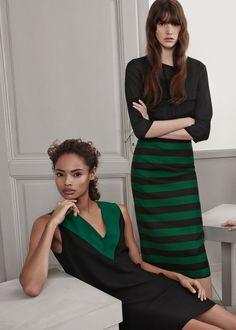 V-neckline dress - Women | MANGO