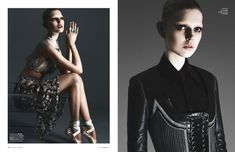 Wearing looks from the likes of Miu Miu and Givenchy, Ola exudes pure elegance