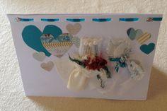 Wedding card - two brides  Fabric and art paper  Bronzart on www.felt.co.nz/shop/bronzart