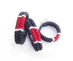men's bracelets inspired by jiujitsu black belt, nylon cord, gift