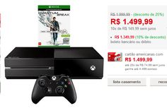 Console Xbox One 500GB  Game Quantum Break  Controle Sem Fio << R$ 134999 >>